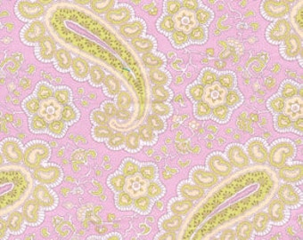Annette Tatum, Fall House, Paisley in Rose AT38- 1 Yard