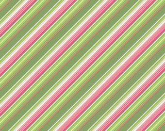 My Minds Eye for Riley Blake, Summer Song, Summer Stripe in Green C7056 - 1/2 Yard