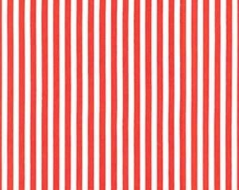 Michael Miller, Retro Basics, Clown Stripe in Fire CX3584 - 1/2 Yard