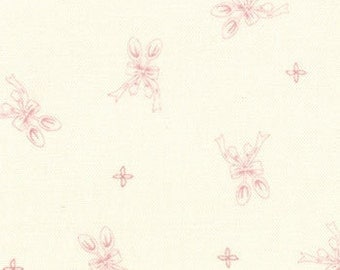 Bunny Hill Designs for Moda, Ooh La La, Silver Spoon in Cream and Pink 2834.12 - 1 Yard Clearance