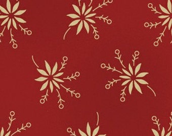 Sara Morgan for Blue Hill Fabrics, Old Glory 2, Flower Toss in Red 7624.2 - 1/2 Yard