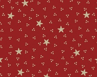 Sara Morgan for Blue Hill Fabrics, Old Glory 2, Stars and Dots in Red 7630.2 - 1 Yard Clearance
