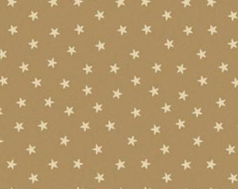 Sara Morgan for Blue Hill Fabrics, Old Glory 2, Stars in Tan 7626.8 - 1/2 Yard