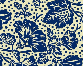 Sara Morgan for Blue Hill Fabrics, Saras Stash, Flowers and Dots in Blue 7416.12 - 1/2 Yard