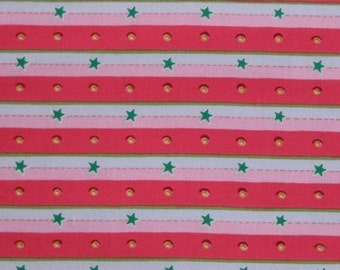 Felicity Miller, Stripe and Dot Red - 1 Yard Clearance