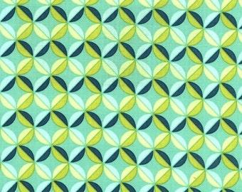 Joel Dewberry, Chestnut Hill, Modern Petal in Turquoise - 1 Yard Clearance