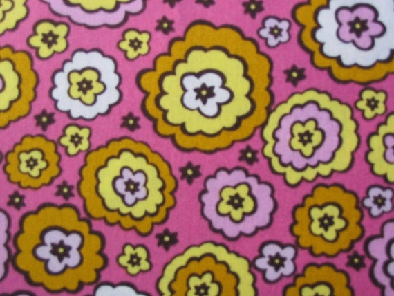 Anna Maria Horner, Chocolate Lollipop, Candied Roses in Pink Malabar - 1 Yard Clearance