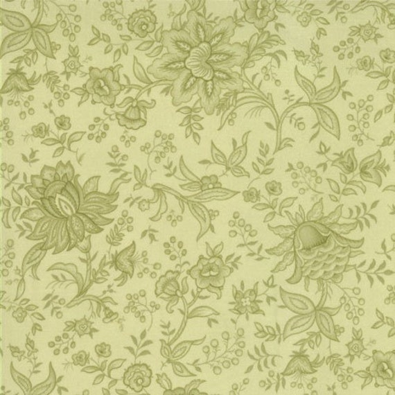 Bonnie and Camille for Moda, Bliss, Paisley in Tonal Lime 55026.24 - 1/2 Yard