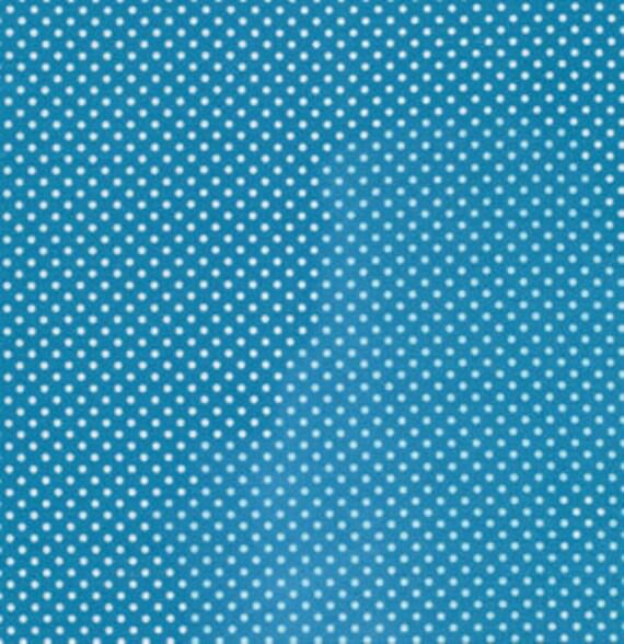 Rosanna Bowles, Darjeeling, Swiss Dot in Blue RB03- 1 Yard (Last One)