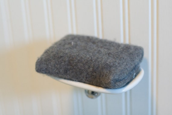 Grey Reusable, Upcycled Soap Sweater