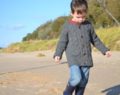 Driftwood Cardigan: A classic cable cardigan pattern for children