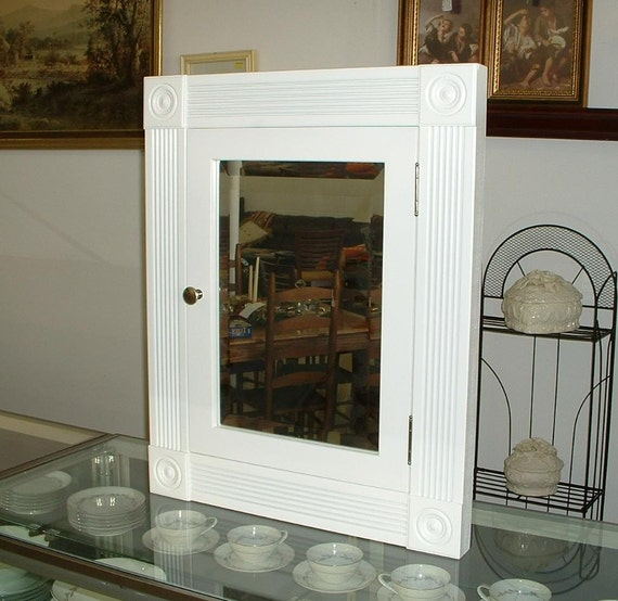 Style Of Mirrored Medicine Cabinet : Medicine Cabinet InWall Victorian Style Beveled Mirror by OnlyOak