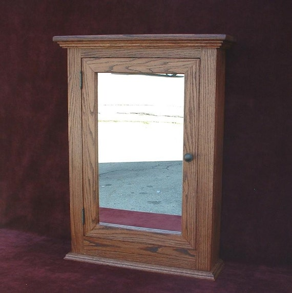 Medicine Cabinet Classic Solid Oak Hand Crafted Beveled