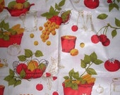 Vintage Fabric Wall Tex Spice Rack Avocado and Harvest Vintage Fabric