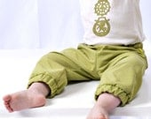 city pant - baby/toddler - pea green - 6 mos up to 3T - made in england
