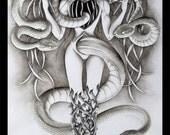 Inner Monster Tattoo Art - Print