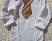 Primary Stripe Tie Onesie