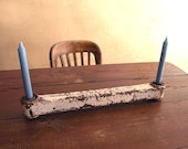 Industrial Found Object Metal Candle Holder