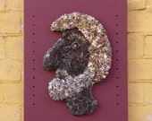 Mixed Media Sculpture, Puzzle Assemblage, Contemporary Wall Art