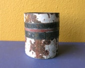 Kitchen Utensil Holder, Industrial Kitchen Decor, Industrial Storage Container, Distressed Metal