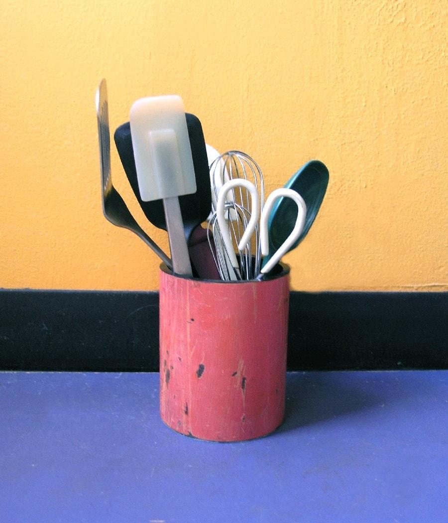 Industrial Kitchen Utensils: Kitchen Utensil Holder Industrial Kitchen Decor Bubble Gum