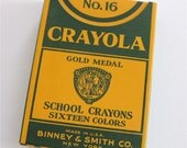 Vintage 1930s Box of Never Used Crayons