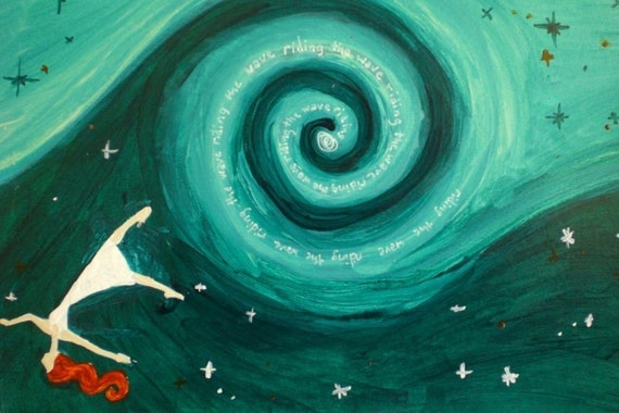 Flying Girl and The Seventh Wave, or Perspective, 11/50 limited edition print