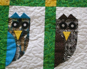 Whimsical Owl Crib Quilt Pattern