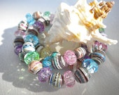 Rock Candy Paper Bead Bracelets (set)