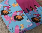 Crayon Roll Wallet Travel Art Center Tote with Dora the Explorer and Boots for Girls
