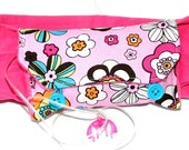 Pink Flower Insulin Pump Pack or Insulin Pump Carrier - Stretchy and Soft