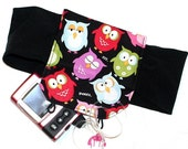 Colorful Owl Insulin Pump Fully Lined Carrier - Stretchy and Soft
