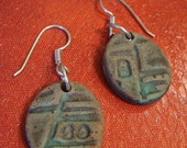 Aqua Matte Stoneware Earrings
