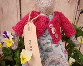 knitted mouse Rose