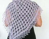 Shawl / Sale Lilac Shawl / Crochet Shawl / READY TO SHIPPING