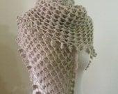 Shawl Beige Crochet Soft Shawl Romantic Soft Triangle Scarf Modern Wrap Cowl For Chic Women READY TO SHIPPING