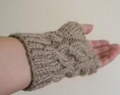 Beige Knitting Gloves