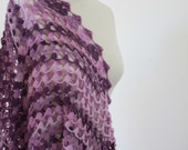 Triangle Colorful  Shawl Scarf Purple Lilac Violet Soft Warm Winter Fashion READY TO SHIPPING