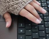 Beige Fingerless Gloves Gift For Her NEW