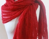 Winter Accessories, Bridal Accessories Shawl RECTANGLE Red Knitting Cool Shawl New Express Delivery