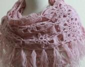 Mother Day's Shawl EXPRESS SHIPPING Soft Wrap Pink Shawl Chic Wedding Bridal Wrap Triangle