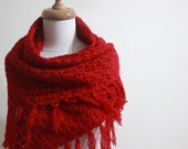 EXPRESS DELIVERY Lace Shawl. Red Shawl - Gift For Her/ Teen Girls Mom /NEW Fashion Triangle Scarf,Neckwarmer