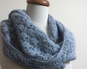 Grey Cowl Crochet Winter Fashion Fall Trend winter fashion. Winter Accessories READY TO SHIPPING
