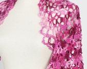 SALE Shrug Was 65 Now 50 Hand Crocheted Shrug Crochet Pink Colors Cotton Thread Shrug Bolero Jacket Chic ALL SEASONS Spring Fashion