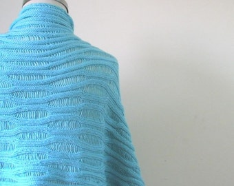 Knitting Shawl Classy Handmade Wrap Scarf Stole Gift For Her Spring Fashion READY TO SHIPPING