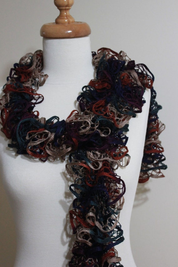 Multicolor Knitting Scarf Hand knit Scarves Beige Green Deep Blue Tan READY TO SHIPPING