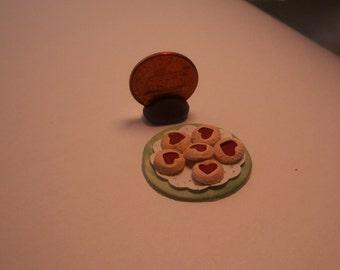 Valentine's Day Tarts Handmade Dollhouse Miniature Treat