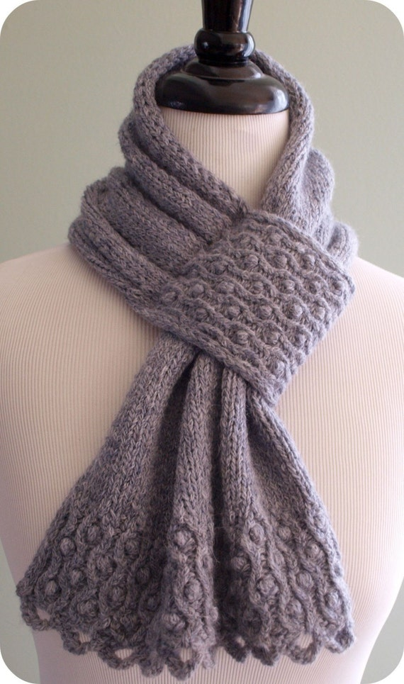 Drifted Pearls Scarf Knitting Pattern (PDF)