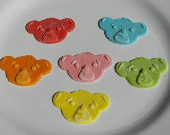 Edible Character Fondant Cupcake Toppers