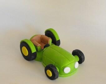 Edible Green Tractor Cake Topper